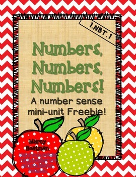 Numbers, Numbers, Numbers- a numbers sense mini-unit FREEBIE!