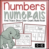 Numbers & Numerals 0-10 Trace, Show, Color, Count, and Build with 3D Posters