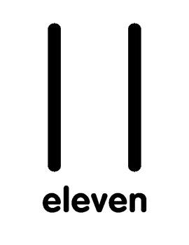 Numbers, Numerals, Number Words, Display 11-15