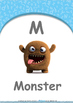 Numbers - One : Letter M : Monster - Nursery (2 years old)