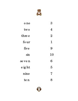 Numbers One to Ten Draw a Line 1 to 10 Kindergarten