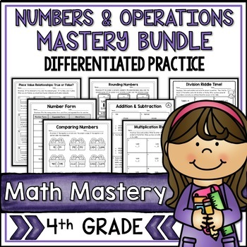 4th Grade Math Test Prep Review Numbers and Operations