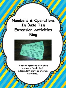 Numbers & Operations Extension Task Card Ring