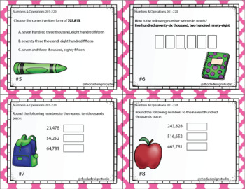 Numbers & Operations Math Interventions or Test Prep NWEA RIT Band 201-220