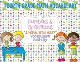 "Numbers & Operations Math Vocabulary ""I Have, Who Has?"" Review Game"