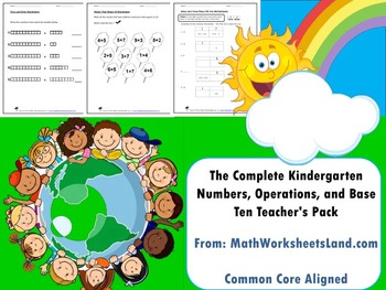 Kindergarten Numbers, Operations, and Base Ten Teacher's Pack - Core Aligned