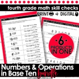 Numbers & Operations in Base Ten Bundle | Fourth Grade Math