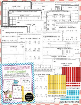 Number & Operations in Base Ten Worksheets/Activities - First Grade Common Core