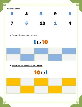 Numbers Order and Ordinal Numbers