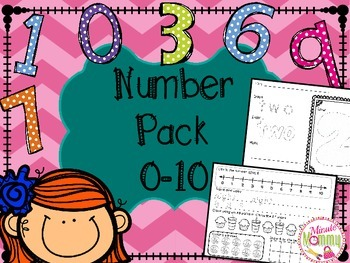 Kindergarten Numbers Pack 0-10
