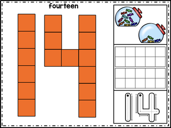 Numbers Pattern Block Mats 0-20