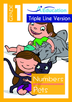 Numbers - Pets (I) - Grade 1 (with 'Triple-Track Writing Lines')