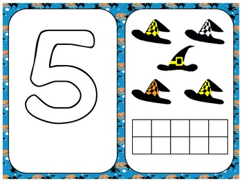 Numbers Play Dough Mats, Halloween Theme