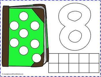 Numbers Play Dough Mats and Dauber Dot Paint Sheets