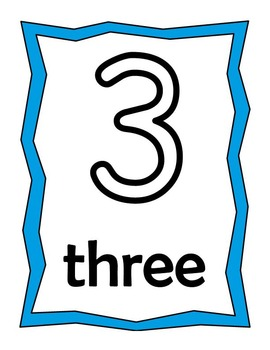 Numbers Play-doh or Trace Pack!