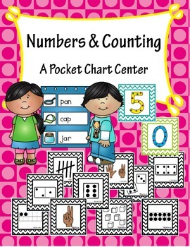 Numbers Pocket Chart Sorting Center