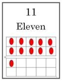 Numbers Poster 1-20 Tens Frame CCSS