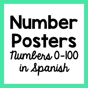 Numbers Posters 1-100