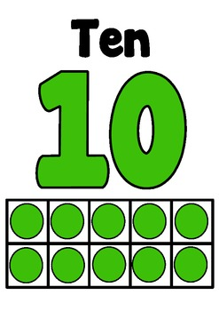Numbers Posters 0-20 with number and tens frame