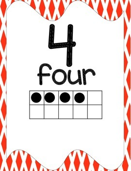 Number Posters, Classroom Decor, (Diamond)