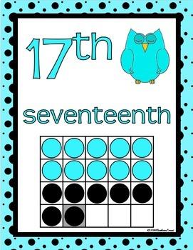 CLASSROOM DECOR: Numbers, Number Posters, Decor, Aqua & Black Theme