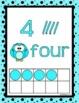 NUMBER POSTERS 0-20 Cardinal Ordinal Numbers Aqua Black Theme Classroom Decor