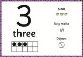 Numbers Posters Place Value MAB Tally Marks Dice Tens Frame 1 - 20 20 - 100
