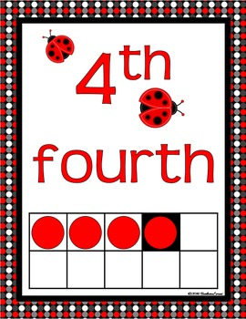 NUMBER POSTERS: Classroom Decor, Red & Black Theme