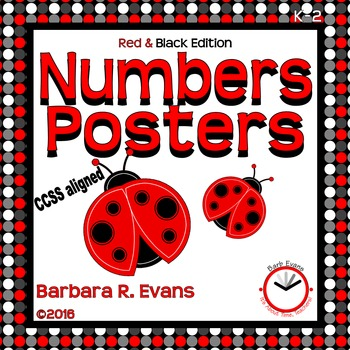 NUMBER POSTERS: Red & Black Edition