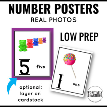 Numbers Posters with Real Photos