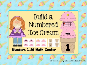 Numbers Practice 1-20 Math Center