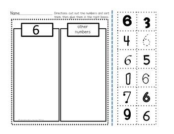 Numbers Practice Part 1 and 2 for Kindergarten, First Grade or Preschool