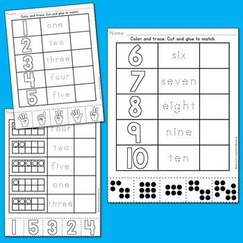 Numbers Printables: Counting &  Cardinality Practice for Kindergarten