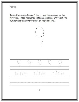 Numbers Prompt Printables FREEBIE