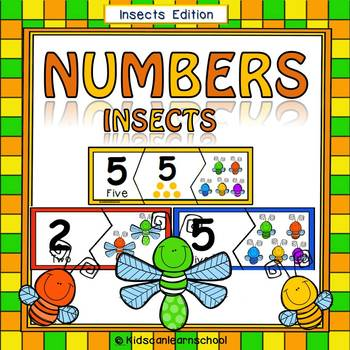 Number Puzzles 0-10- Insects Edition