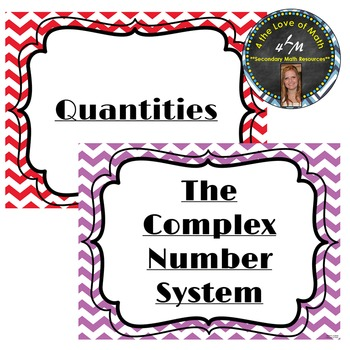 Numbers & Quantity Common Core Standard Posters {Chevron}