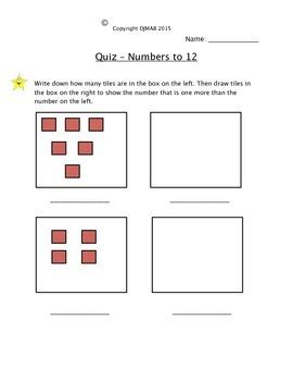 Numbers Quiz Grade 1