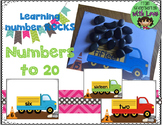 Numbers ROCK! Hands on counting game that uses REAL rocks!!