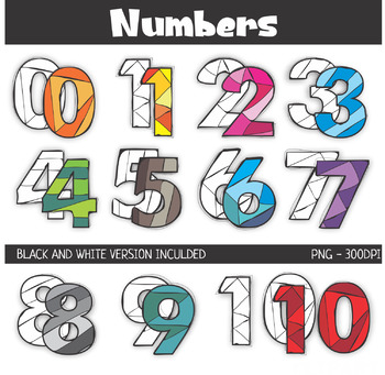 Numbers Rainbow Clip Art
