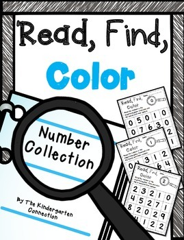 Numbers Read, Find, Color