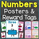Numbers Reward Tags & Number Posters Bundle Set (Numbers 0-20)