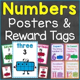 Numbers Reward Tags & Number Posters Bundle Set (Numbers 0-20)