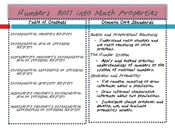 Numbers Roll into Math Properties