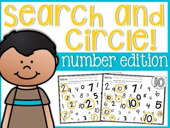 Numbers Search and Circle