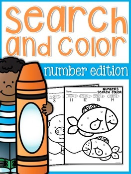 Numbers Search and Color