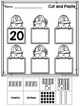 Number Recognition 1-20 - Number sense Worksheets