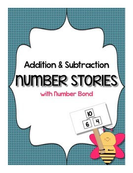 Numbers Stories - Word Problems (number bonds) 1.OA.A.1 -