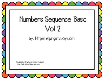 Numbers Sequence 1-10 Basic Vol 2 Autism/ABA
