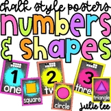 Numbers & Shapes Posters Chalk Style