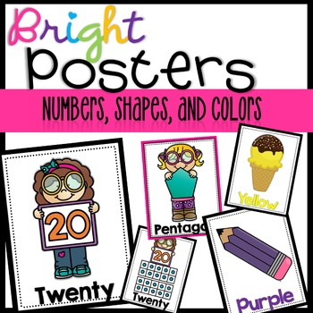 Numbers, Shapes, and Color Posters!